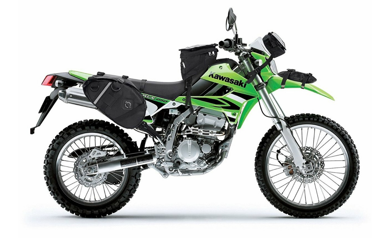 Viking Dirtman Medium Black Dirt Bike/Enduro Saddlebags Bag on Bike View