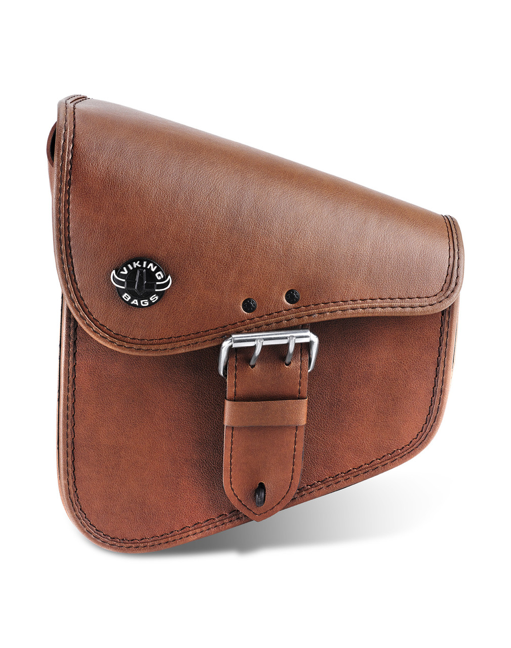 Viking Dellingr Brown Dyna Motorcycle Swing Arm Bag View