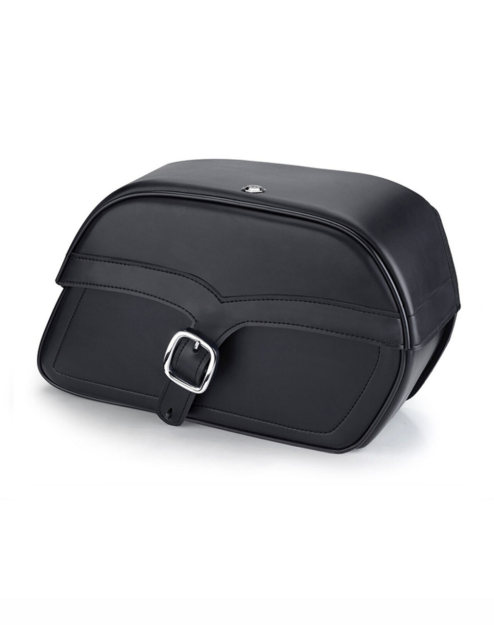 Viking Charger Single Strap Medium Motorcycle Saddlebags For Harley Softail Standard FXST Bag view