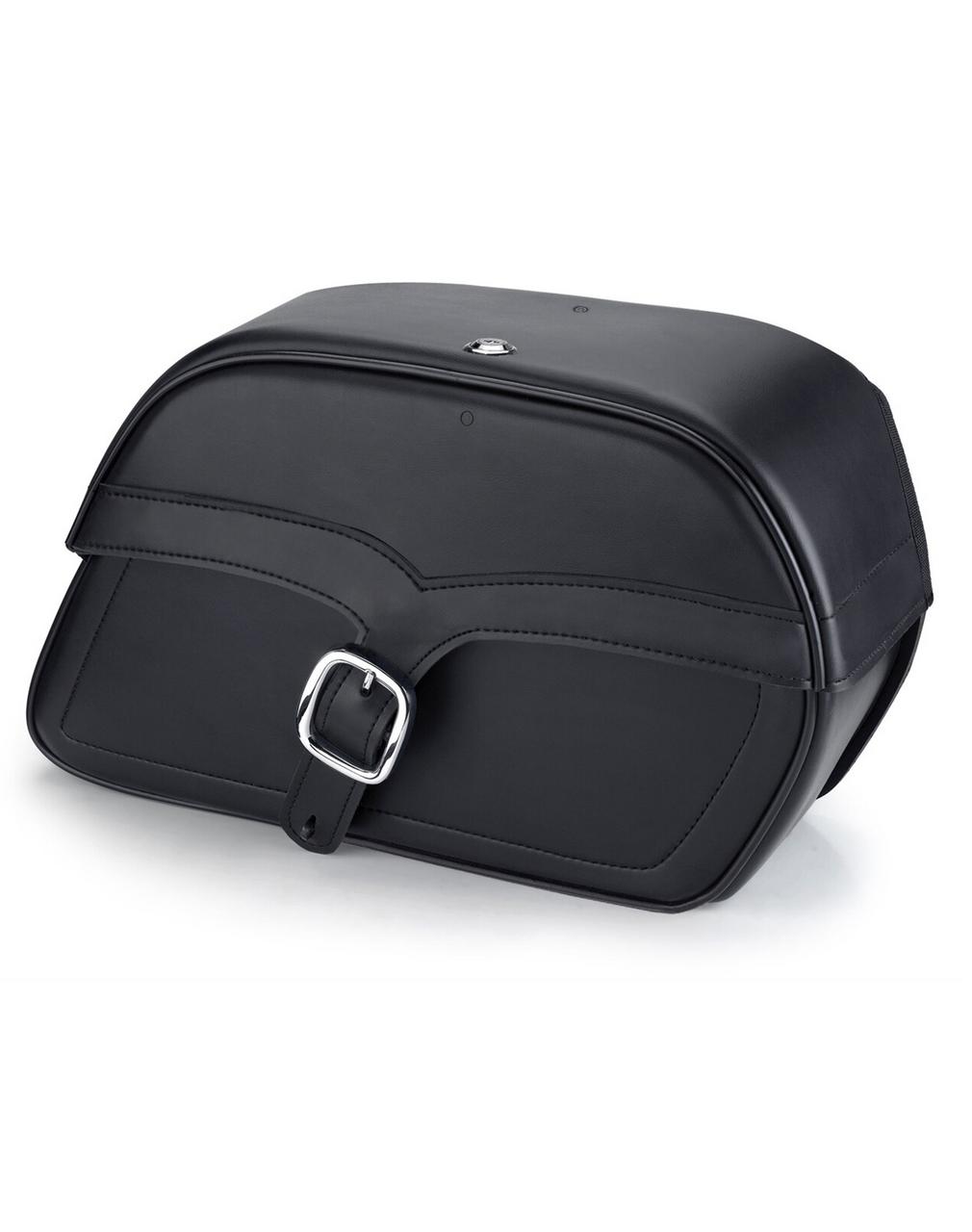 Viking Charger Single Strap Medium Motorcycle Saddlebags For Harley Softail Springer FXSTS Main Bag View