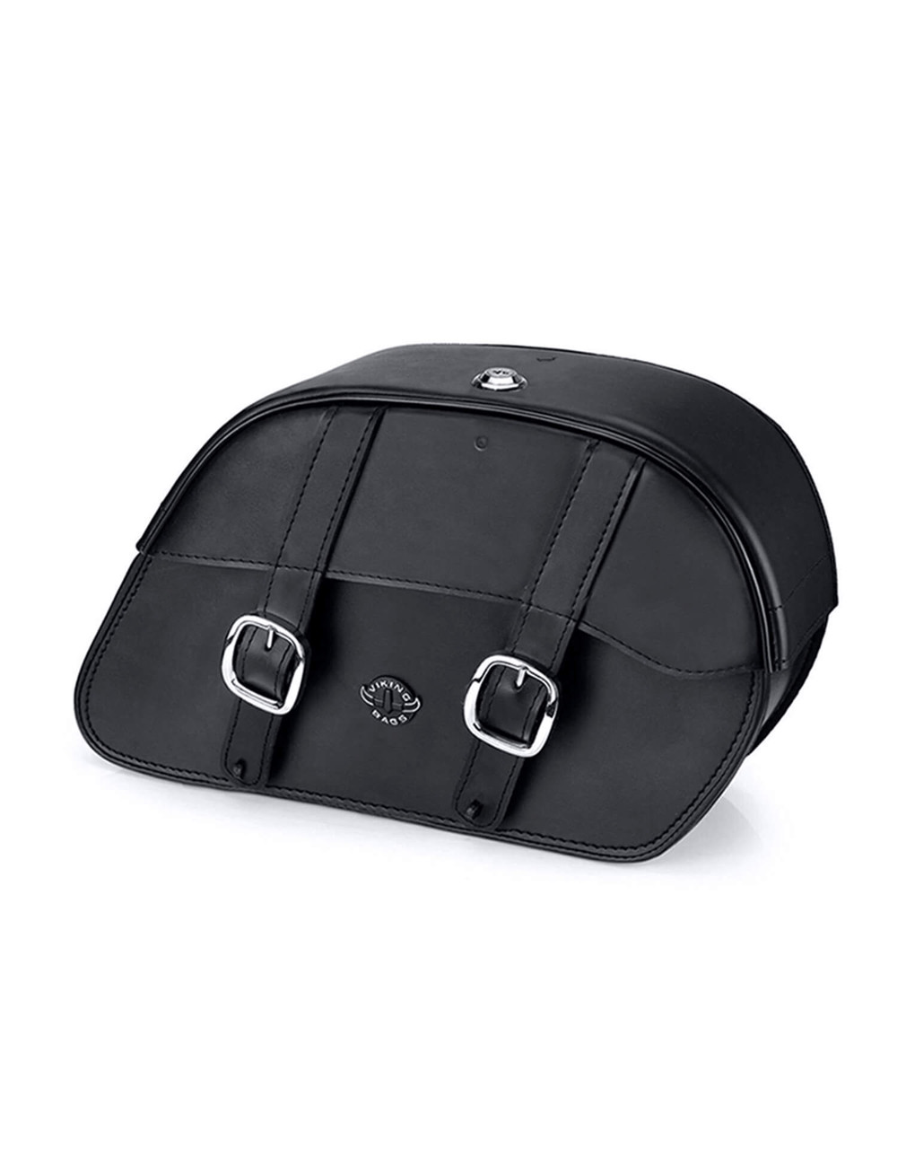 Viking Charger Slanted Medium Motorcycle Saddlebags For Harley Softail Night Train FXSTB Main View