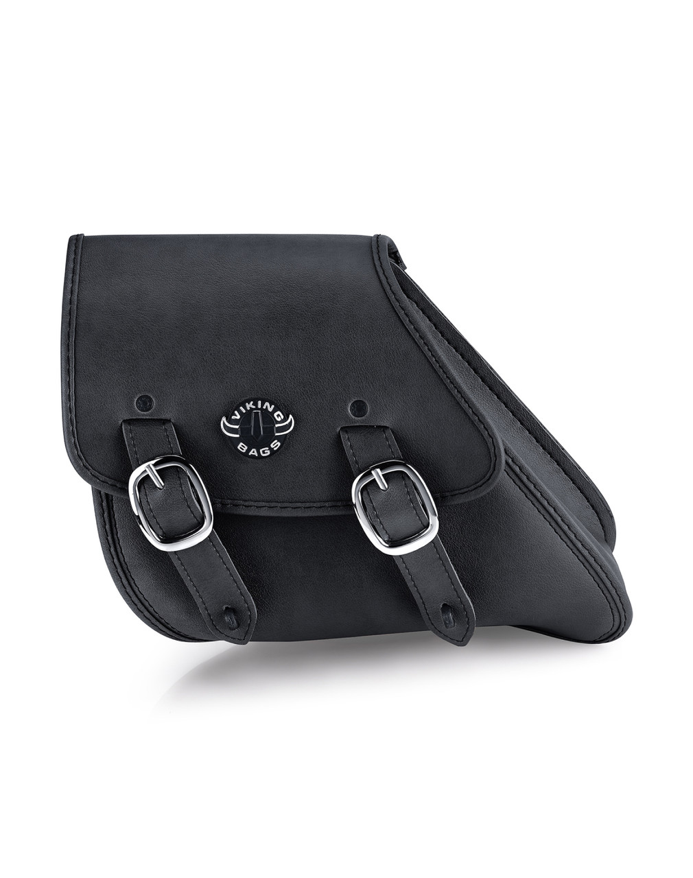 VikingBags Dyna Motorcycle Black Swing Arm Bag Front View