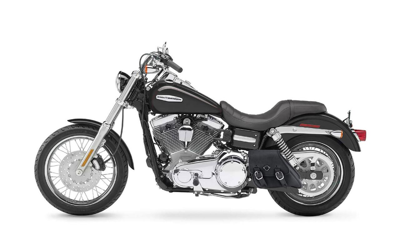 VikingBags Dyna Motorcycle Black Swing Arm Bag Bag On Bike View
