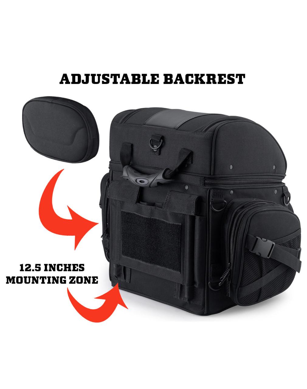 Harley Davidson Large Back Rest Motorcycle Tail Bag Backrest