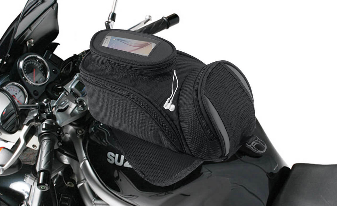 VikingBags Survival Series Triumph Magnetic Motorcycle Tank Bag Bag On Bike View