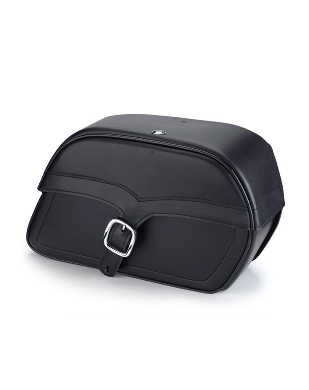 Indian Chief Classic Charger Single Strap Medium Motorcycle Saddlebags Main View