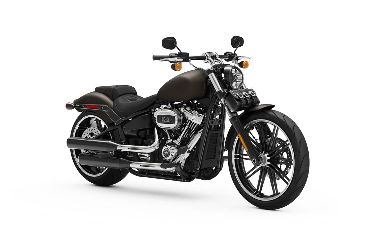Yamaha Trianion Studded Motorcycle Tool Bag Bag On Bike View