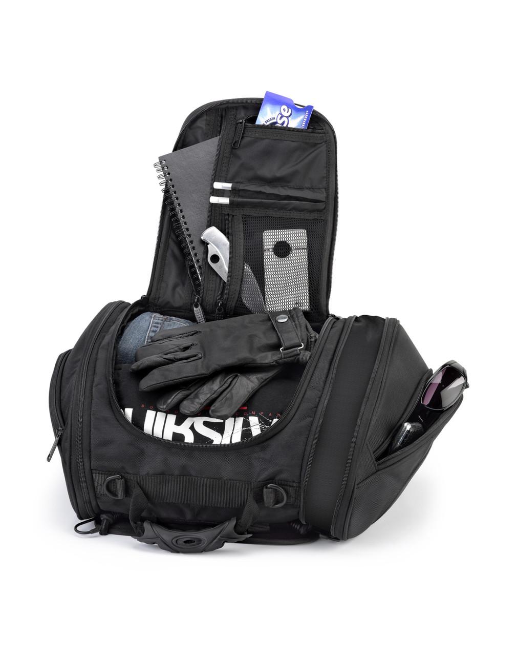 Kawasaki Viking Sport Motorcycle Tail Bag Storage View