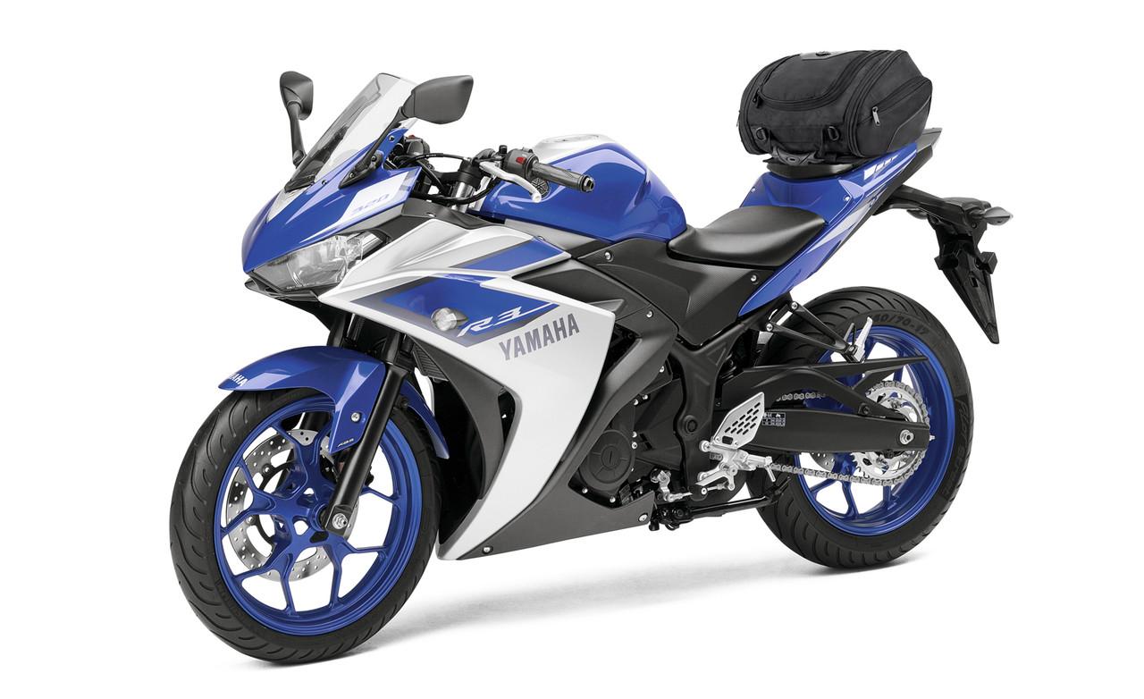 Kawasaki Viking Sport Motorcycle Tail Bag On Bike View