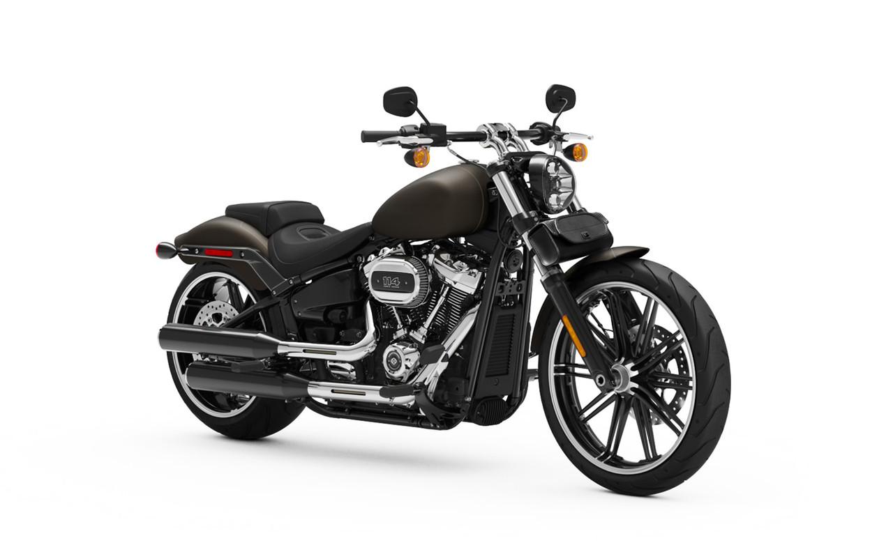 Indian Viking Twist Warrior Large Motorcycle Tool Bag Bag On Bike View