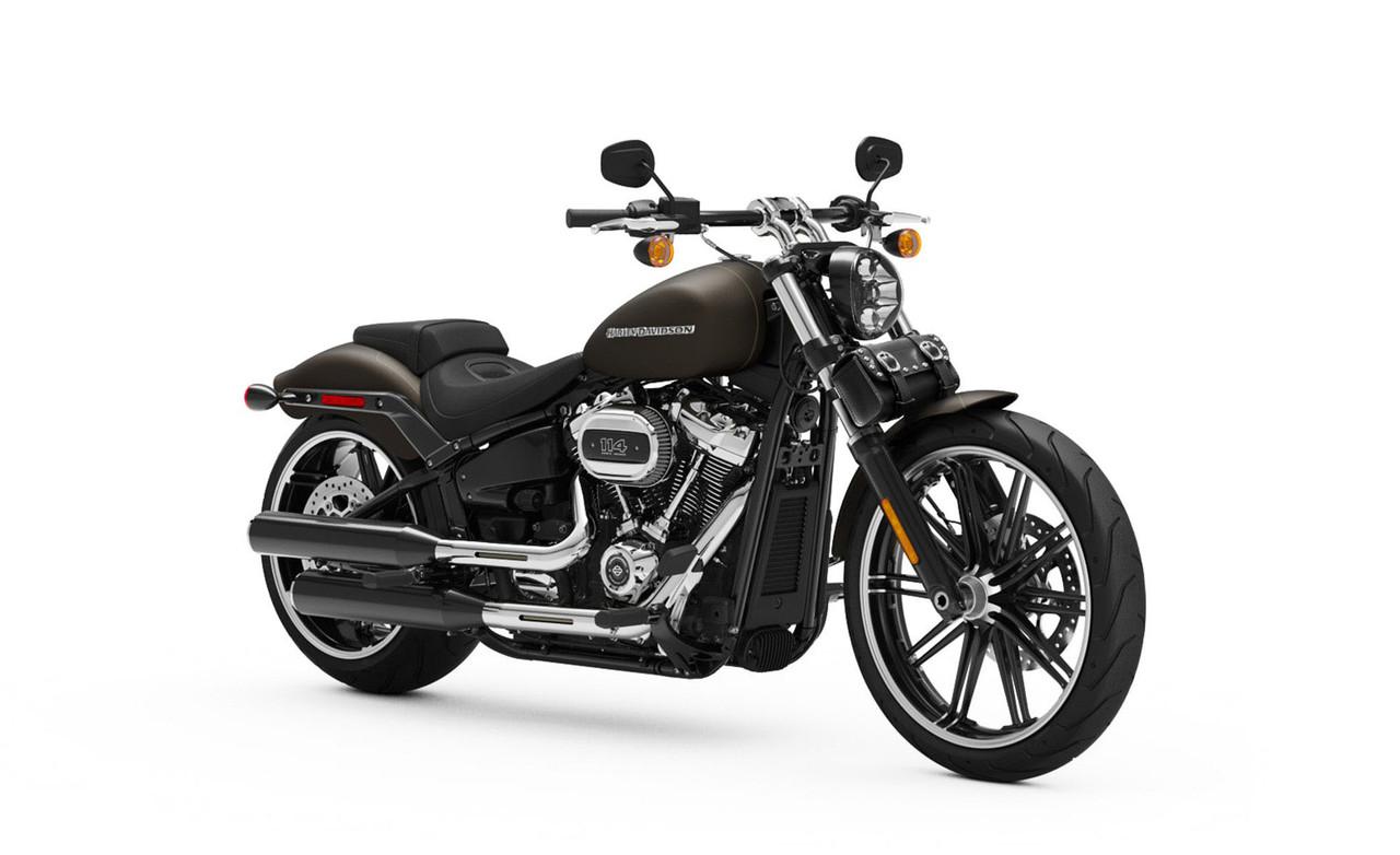 Studded Fork Bag For Harley Davidson Bag on Bike View