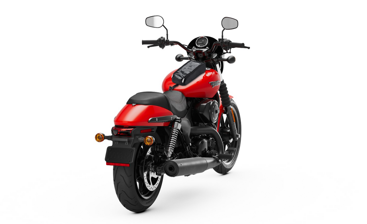 Viking Motorcycle Tank Bag for Harley Street 750 Bag on Bike View