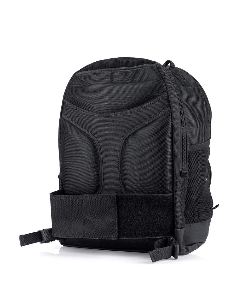 Viking Medium Black Street/Sportbike Sissy Bar Backpack Back Side View