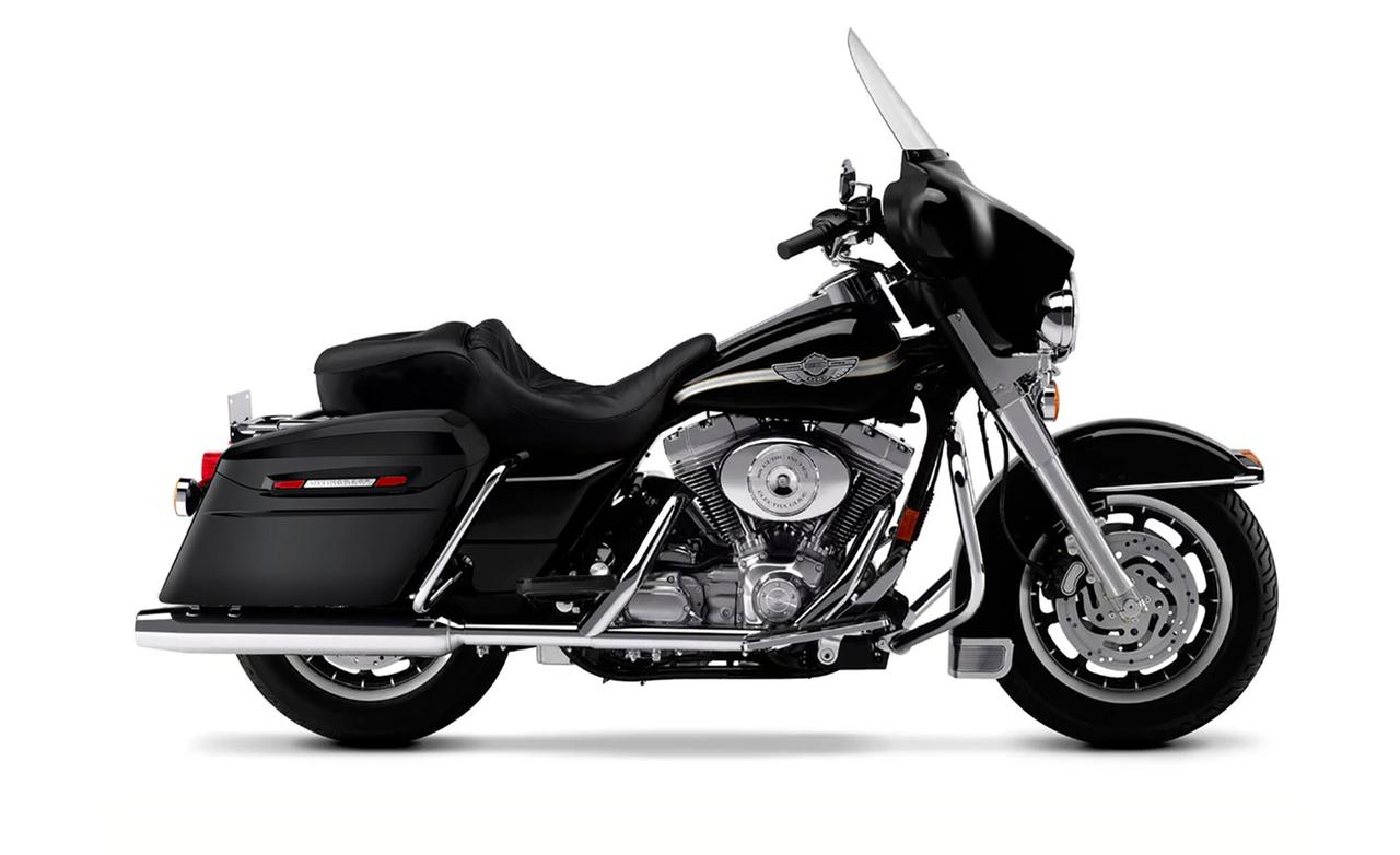 Viking Standard Large Baggers (Gloss) For Harley Electra Glide Bag on Bike  View