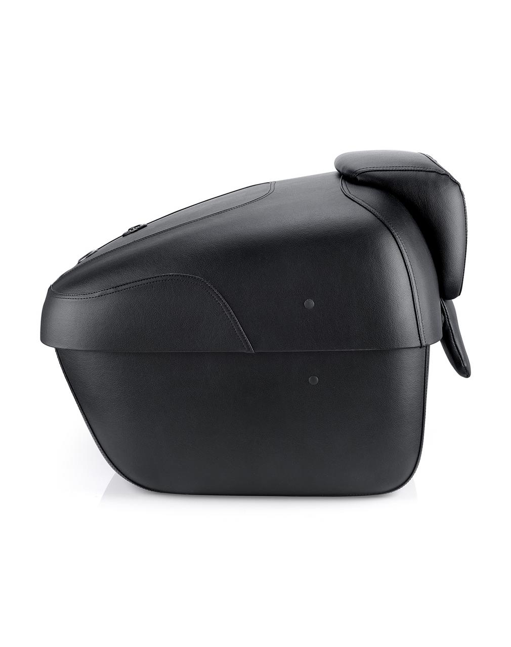 Suzuki Viking Premium Leather Wrapped Hard Trunk Side View