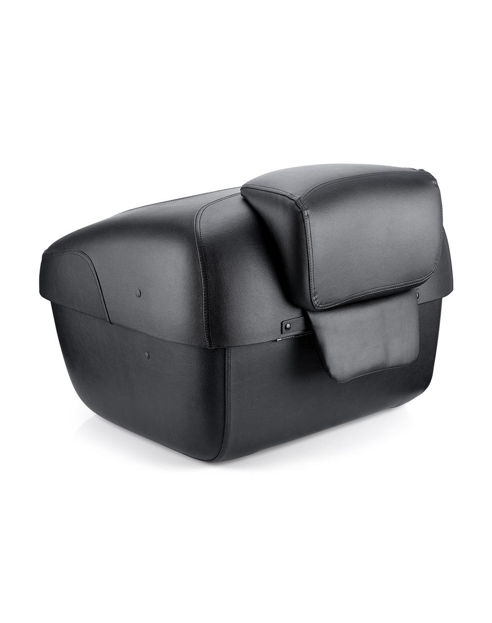 Suzuki Viking Premium Leather Wrapped Hard Trunk Back View
