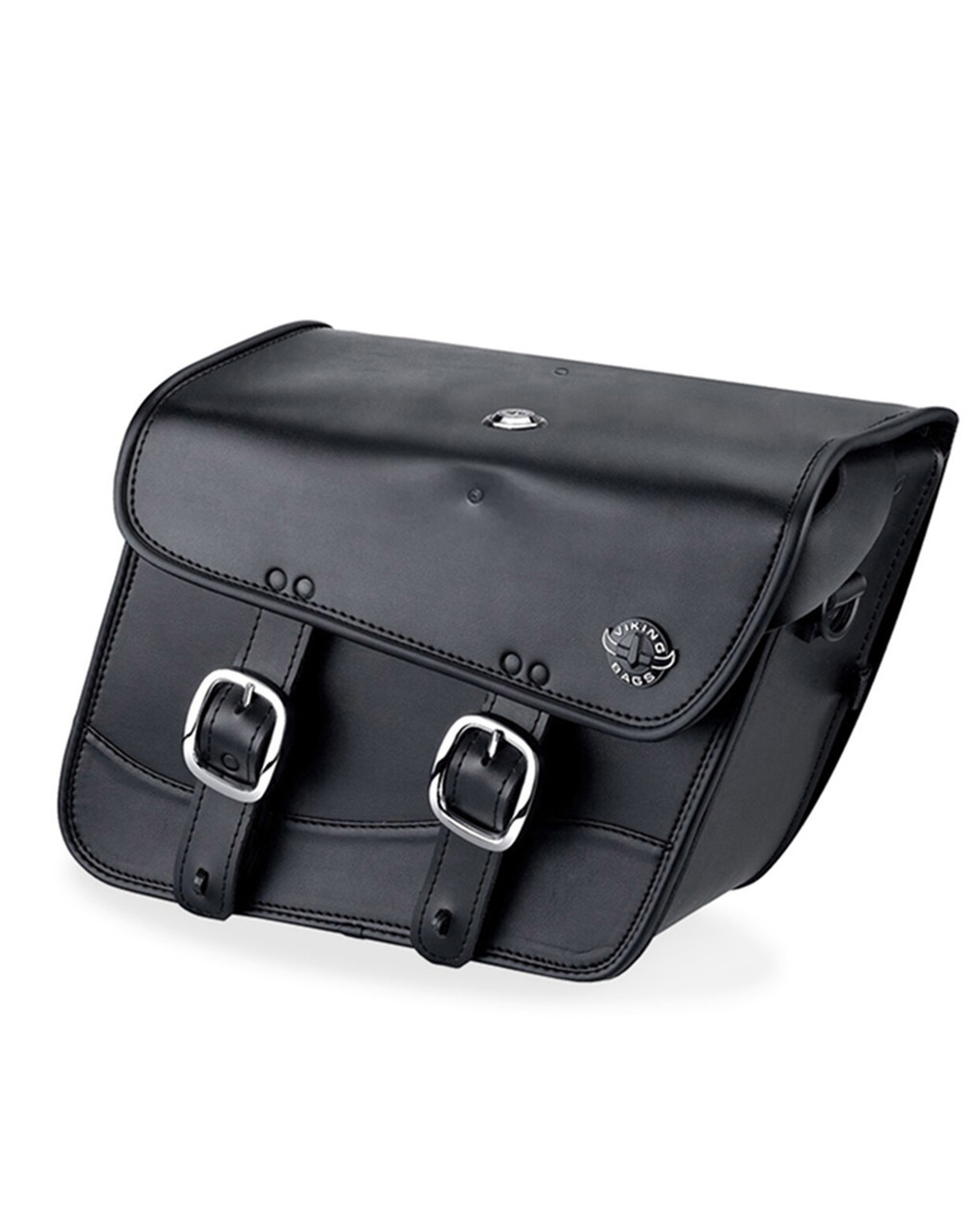 Honda 1500 Valkyrie Interstate Viking Thor Series Small Leather Motorcycle Saddlebags Main Bag View