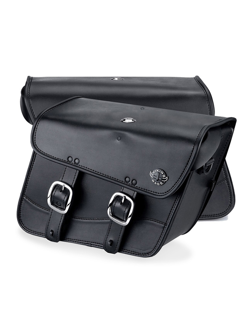 Honda 1500 Valkyrie Interstate Viking Thor Series Small Leather Motorcycle Saddlebags Both Bags View