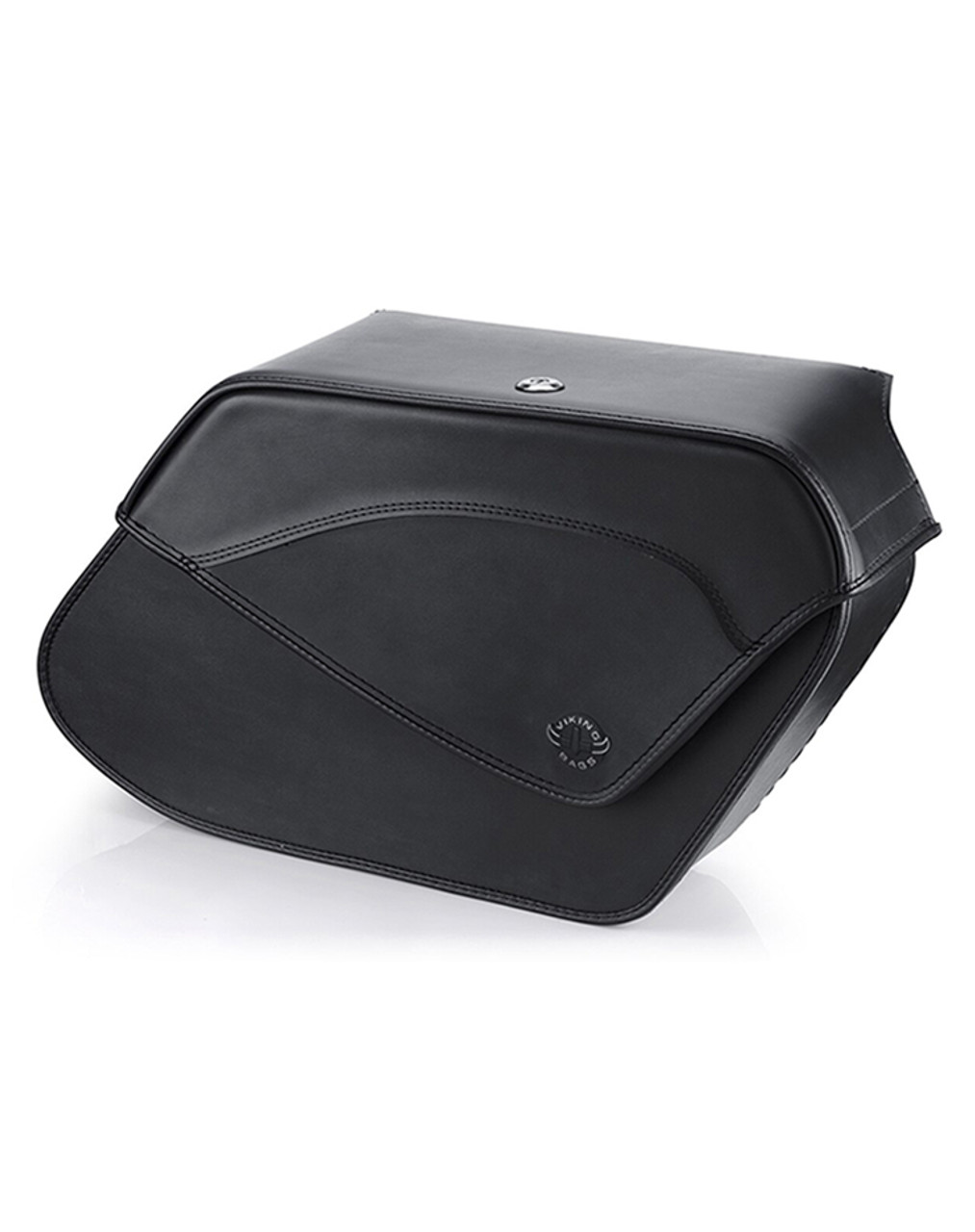VikingBags Demon Extra Large Shock Cutout Dyna Specific Leather Motorcycle Saddlebags Main Bag View