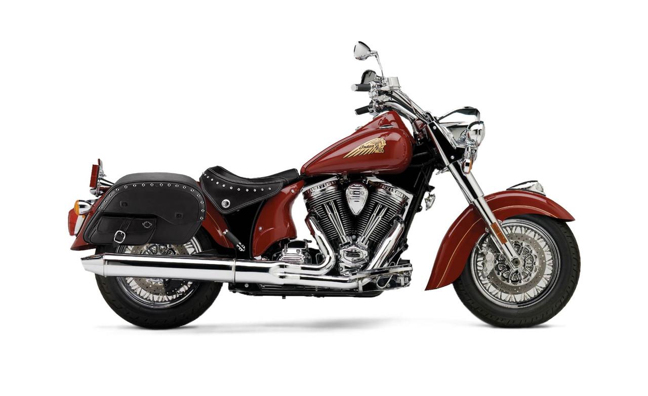 Indian Chief Standard Side Pocket Studded Large Motorcycle Saddlebags Bag On Bike View