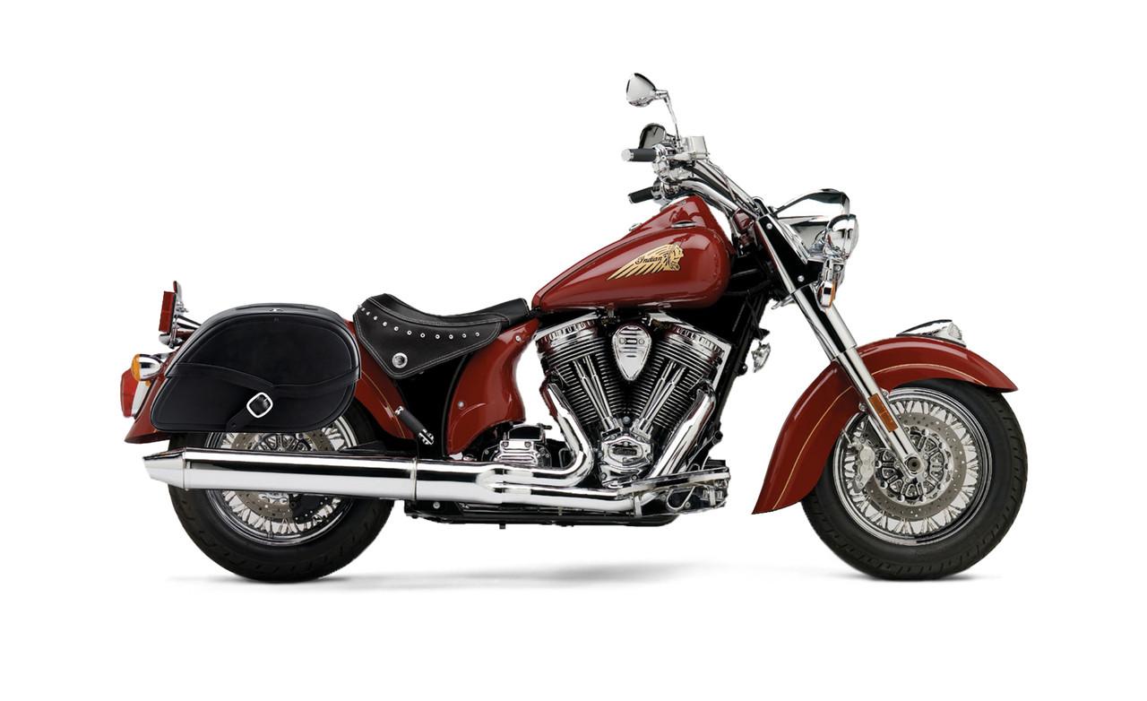 Indian Chief Standard Viking Armor Shock Cutout Motorcycle Saddlebags Bag On Bike View