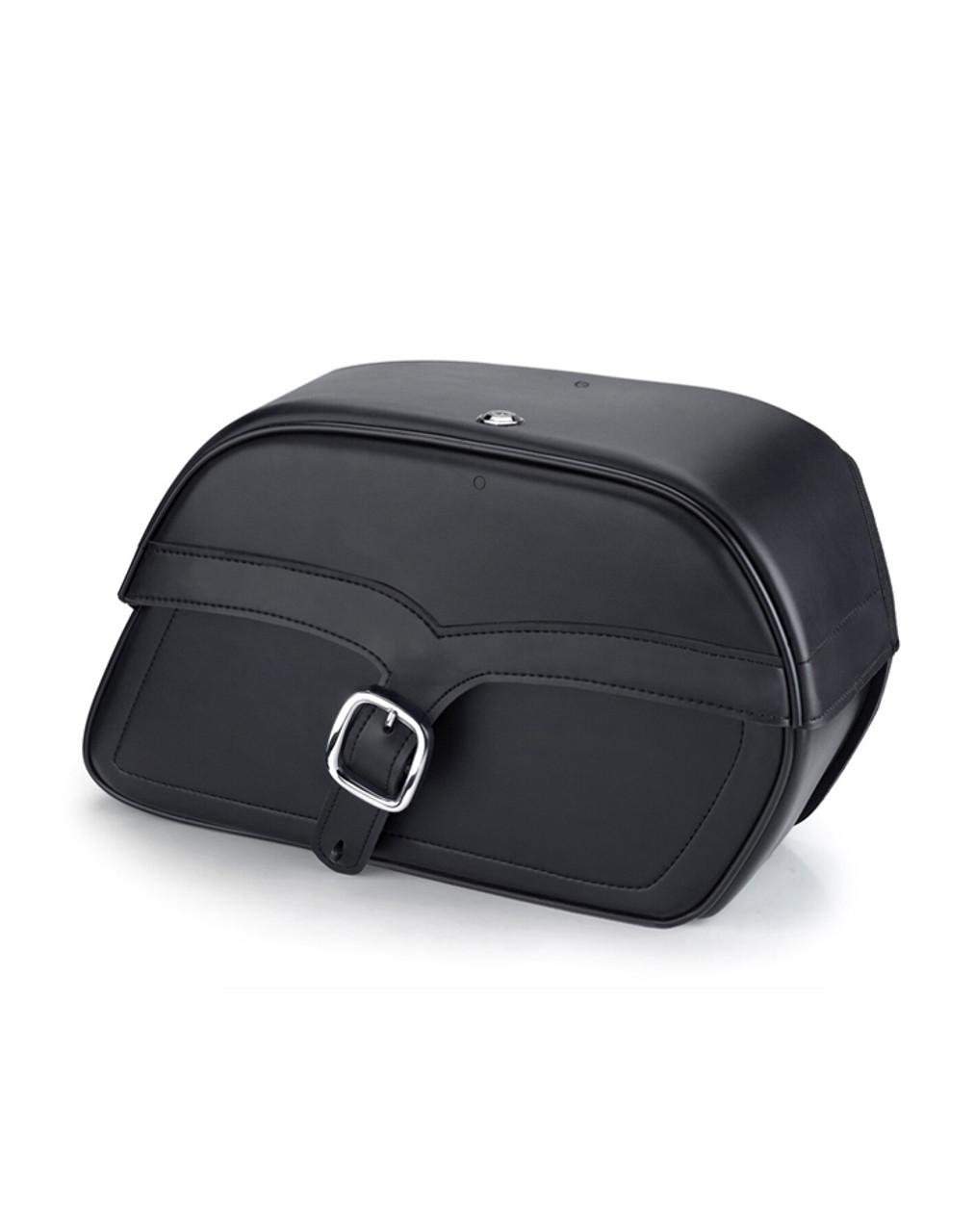 Indian Chief Standard Charger Single Strap Medium Motorcycle Saddlebags Main Bag View