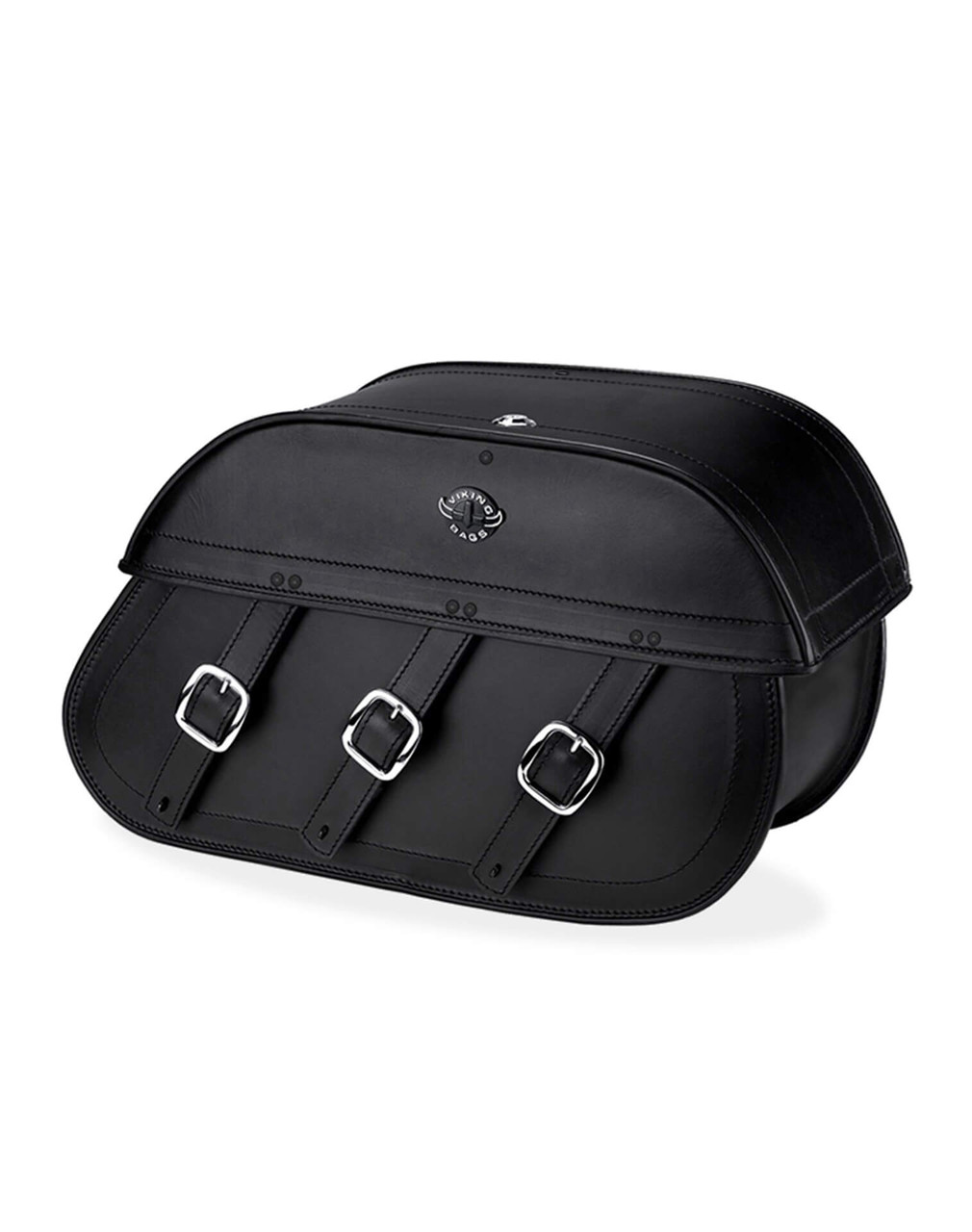Indian Chief Standard Trianon Motorcycle Saddlebags Main Bag View