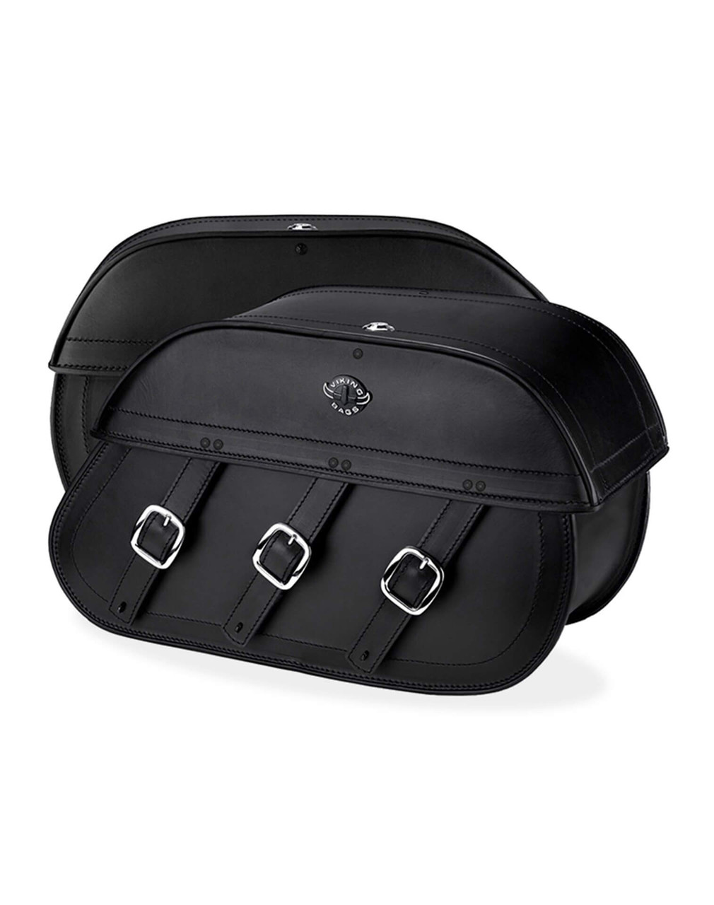 Indian Chief Standard Trianon Motorcycle Saddlebags Both Bags View
