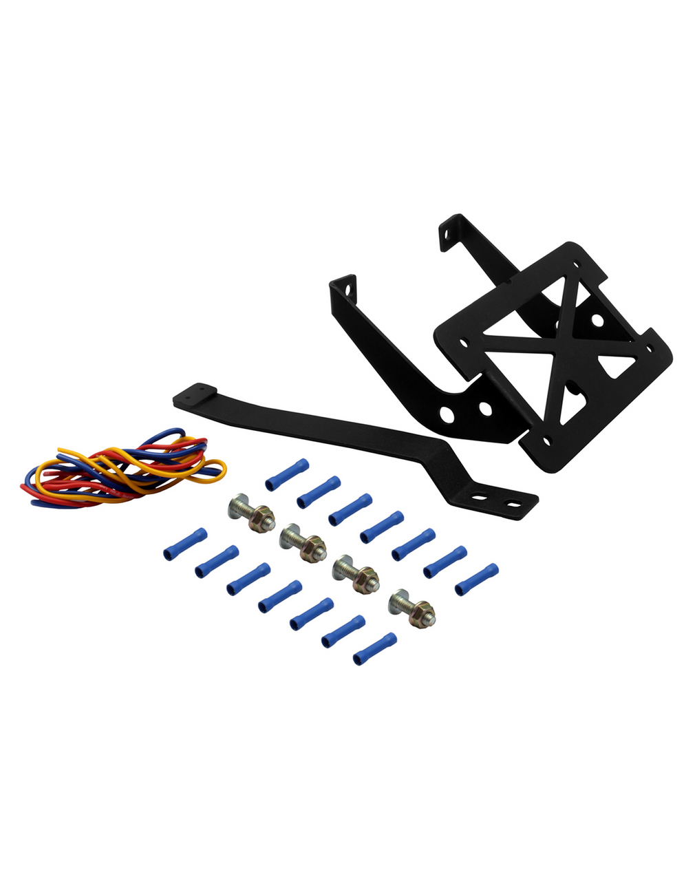 License Plate And Turn Signal Relocation Kit For Harley Davidson Softail with Nets and Bolts