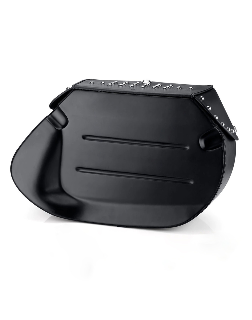 Viking Specific Studded Saddlebags For Harley Softail Night Train FXSTB Back Side View