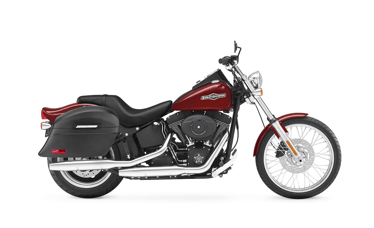 VikingBags Lamellar Stallion Extra Large Matte Motorcycle Hard Saddlebags Bag on Bike View
