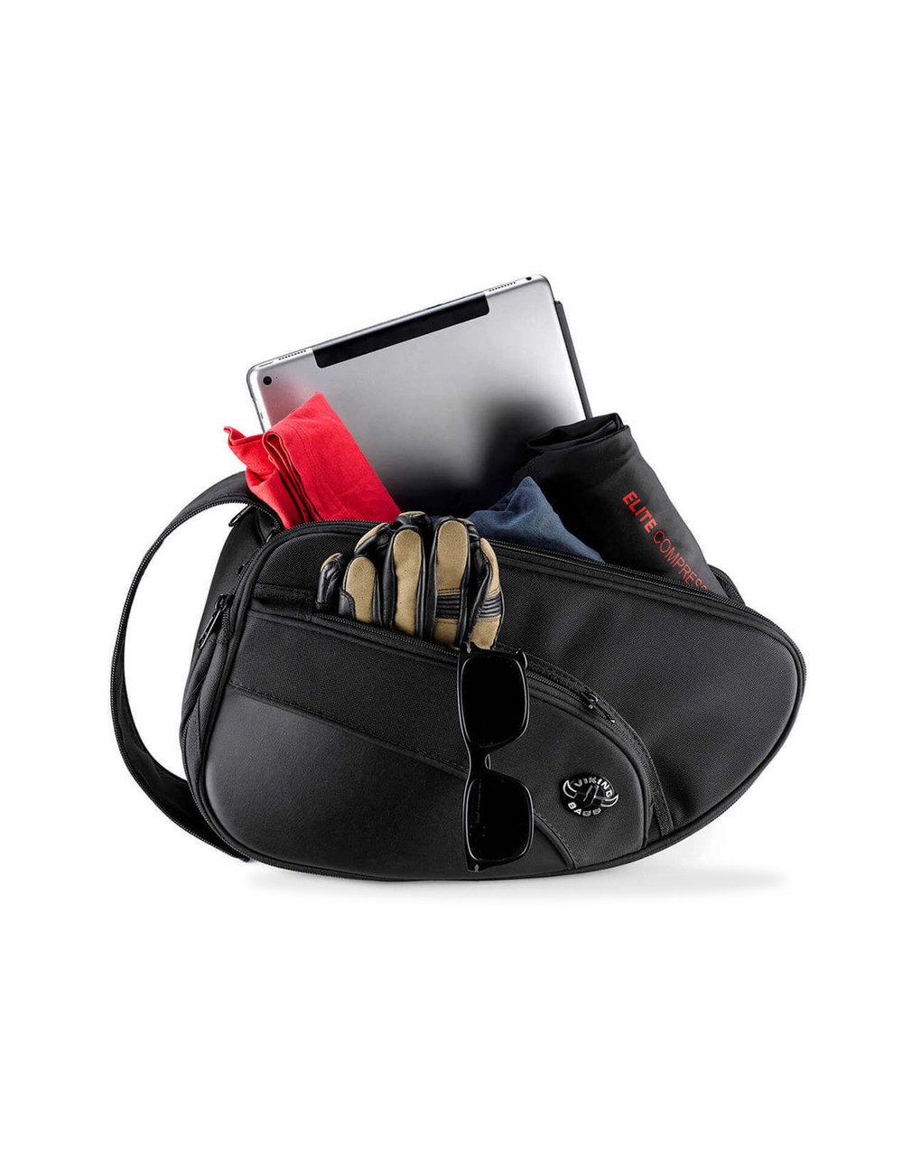 Viking Mini Expandable Black Street/Sportbike Saddlebags Storage View