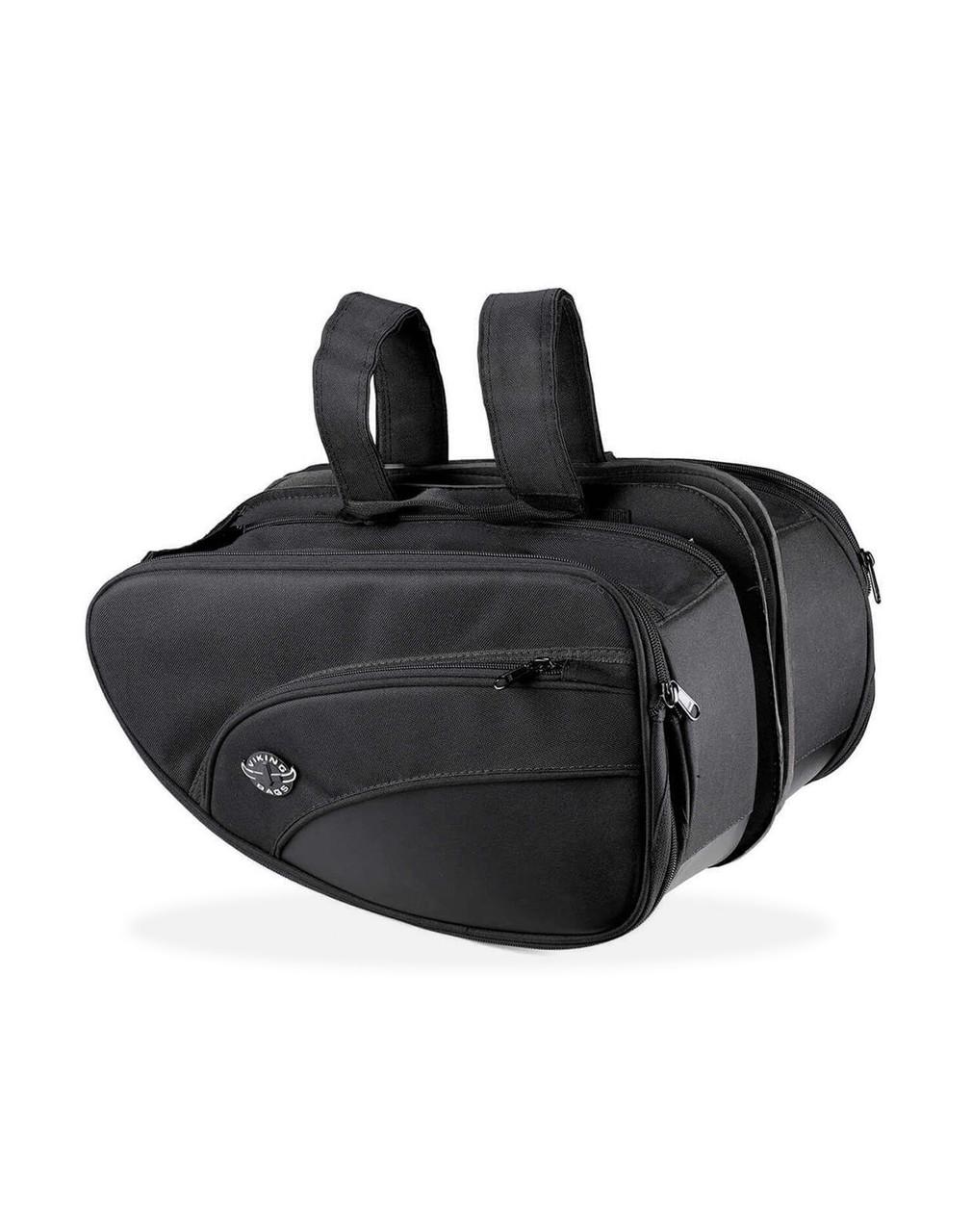 Viking Mini Expandable Black Street/Sportbike Saddlebags Both bags View