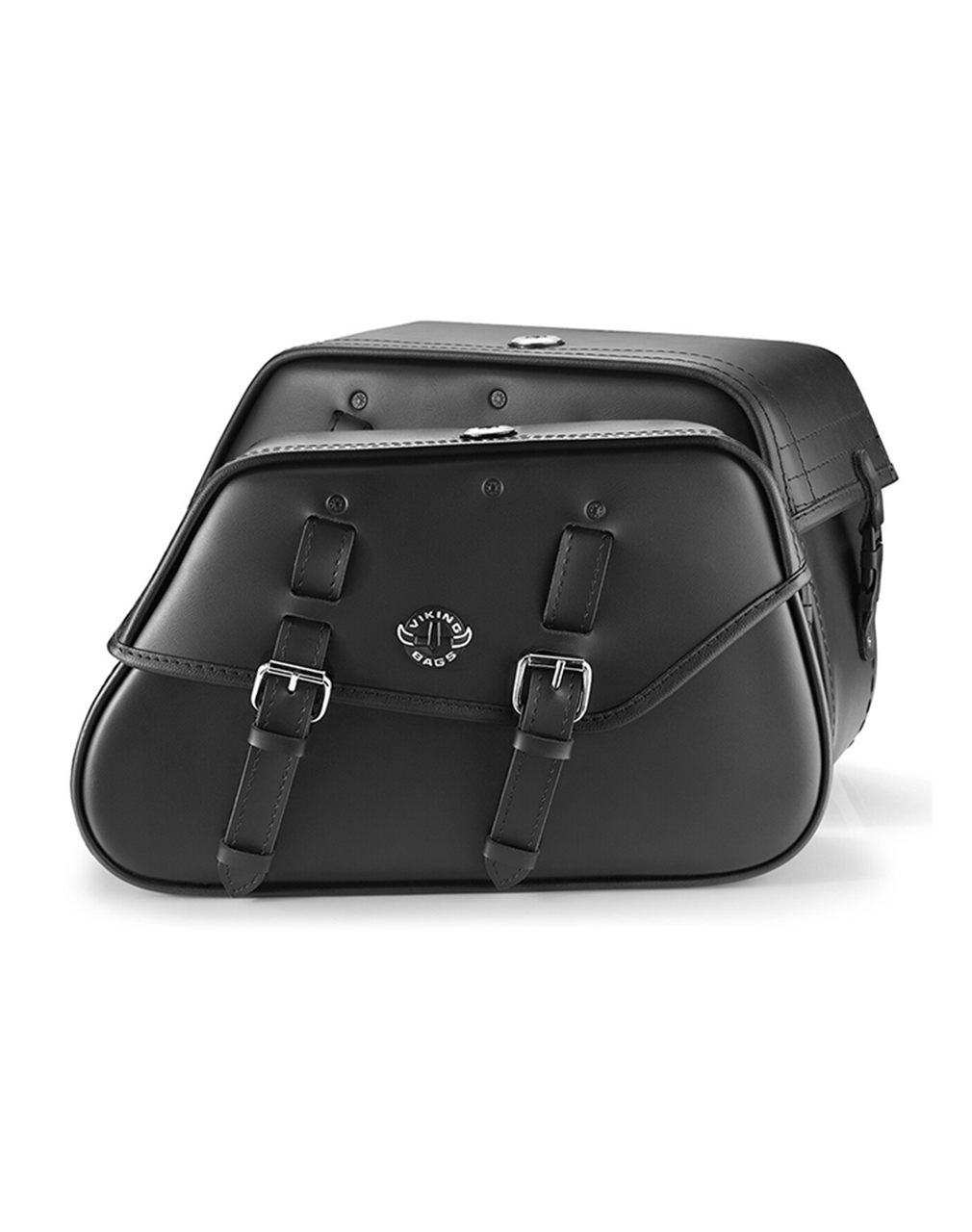 Viking Loki Classic Leather Motorcycle Saddlebags For Harley Softail Street Bob Both Bags View