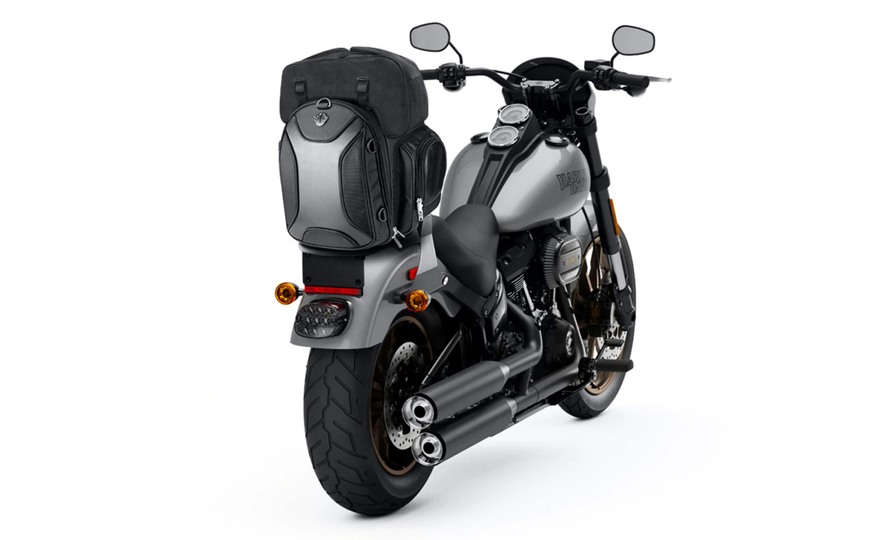 Viking Dagr Large Triumph Motorcycle Sissy Bar Bag on Bike View