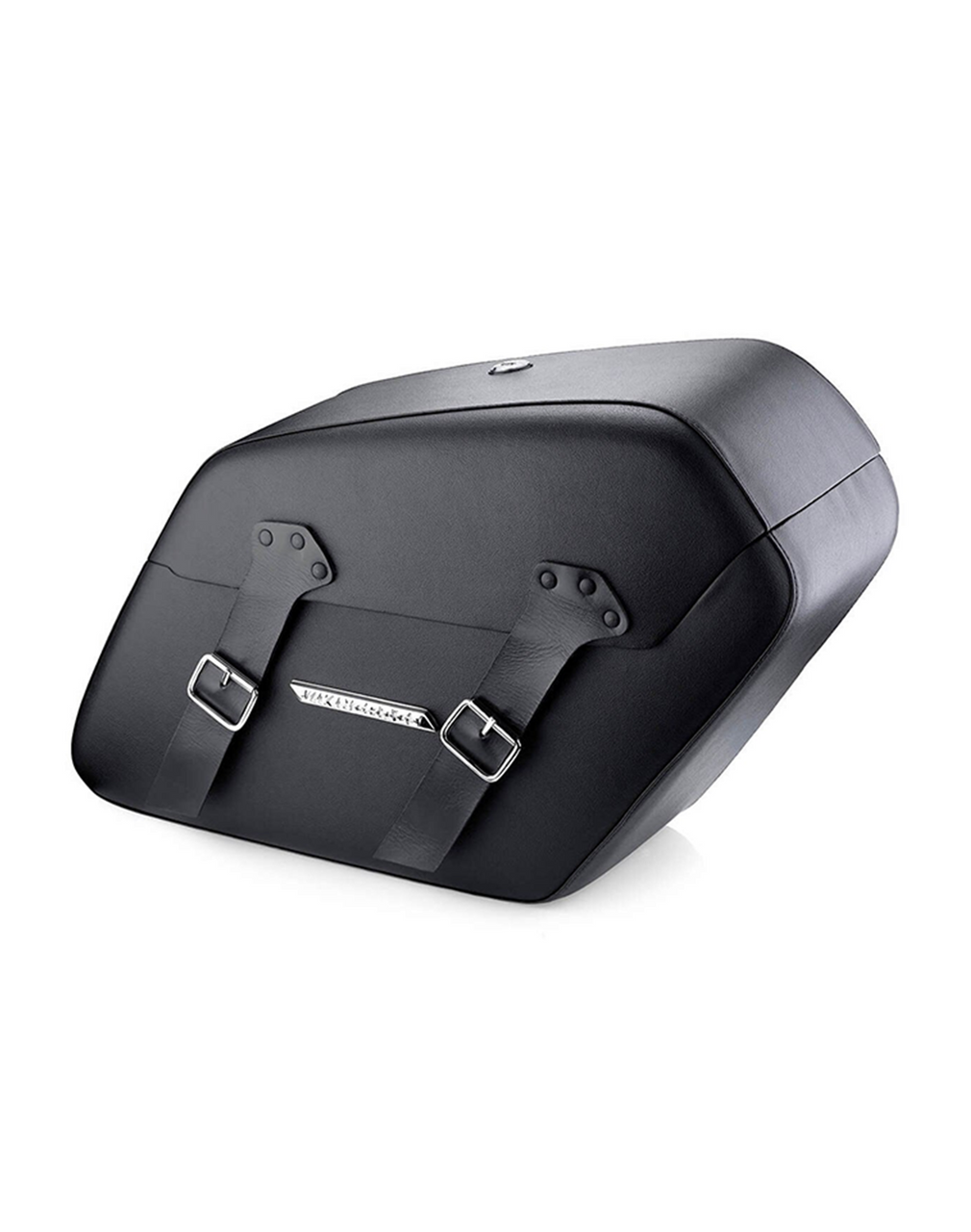 Viking Baldur Extra Large Leather Wrapped Motorcycle Hard Saddlebags For Harley Softail Night Train FXSTB Main View
