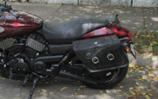 Steve's Harley-Davidson Street 750 w/ Motorcycle Saddlebags