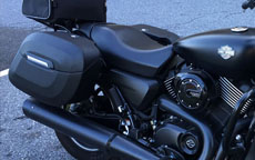 Dohawk's Harley-Davidson Street 750 w/ Motorcycle Saddlebags