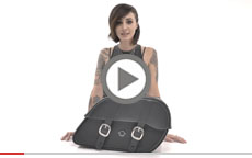 Harley Street Large Shock Cutout Motorcycle Saddlebags Manufacturer Video
