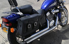 Gene's Honda Shadow w/ Charger Braided Saddlebags
