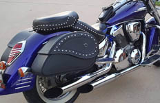 Michael's '03 Honda VTX 1300 w/ Ultimate Shape Studded Saddlebags