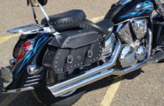 Chad's '07 Honda VTX 1300 R w/ Pinnacle Series Leather Saddlebags