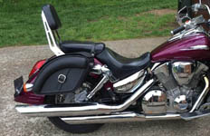 Brian's '05 Honda VTX 1300 S w/ Viking Quarter Series Saddlebags