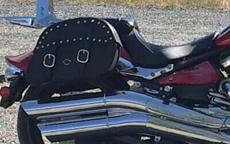 MatMatt's Yamaha Raider w/ Charger Leather Saddlebagst's Yamaha Raider w/ Studded Motorcycle Saddlebags