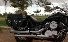 Carlos' Yamaha V Star 1100 w/ Silver Spoon Motorcycle Saddlebags