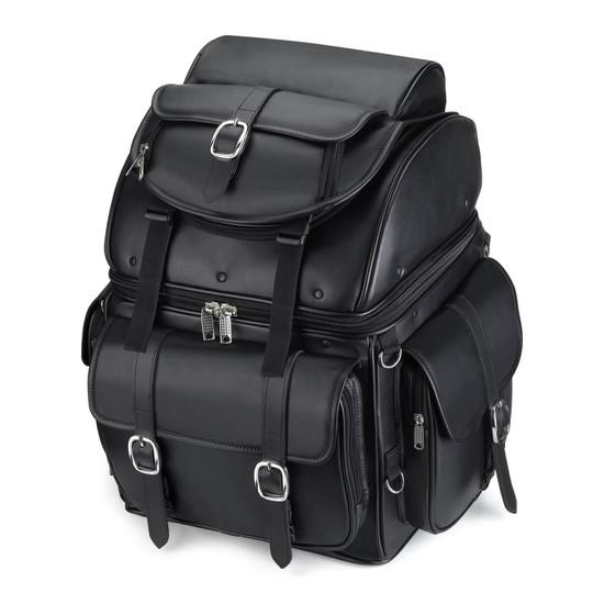 Leather Backrest Motorcycle Bag