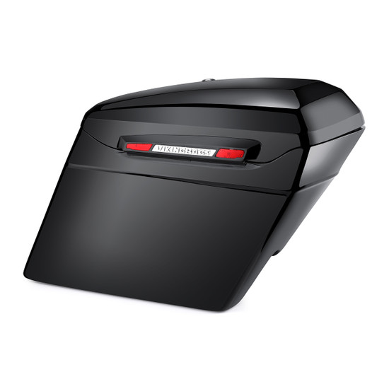 Touring Bagger Gloss Black Stretched Saddlebags