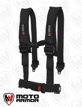 Four Point Harness , OEM style latch, BLACK