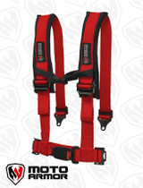 Four Point Harness , OEM style latch, RED