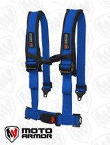 Four Point Harness , OEM style latch, BLU